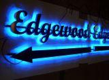 la voie de retour 3D marque avec des lettres les signes lumineux par DEL d'affaires