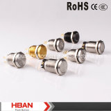 HbanのセリウムのRoHS (19mm)の点Illumination Momentary Latching Vandalproof Push Button Switch