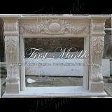 Bordi bianchi Mfp-543 del camino di Carrara del granito di pietra di marmo