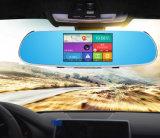 Android monitor DVR do carro do espelho da parte traseira de 5 polegadas com navegação do GPS