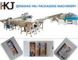 Máquina de empacotamento do macarronete de 3 pesadores