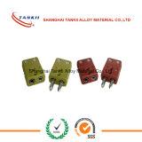 까만 색깔 IEC 표준 소형 표준 열전대 연결관 (J) 유형