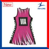 Полные платья Netball одежды шестерни спортов команды женщин сублимации