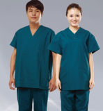 Encargo de moda desechable uniforme médico enfermera instrumentista juegos del juego para los hombres de las mujeres Tela diseño de hospitales de Manila Uniformes médicos mayorista