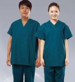 Custom Fashion Uniforme descartável Medical Nurse Scrub Suits Terno para Mulheres Men Fabric Designs Tela Manila Hospital Wholesale Medical Uniforms