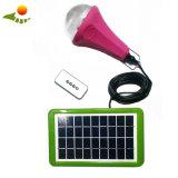 Kit solare di illuminazione di basso costo 12V della casa del kit portatile caldo del comitato solare con 4 lampadine