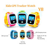 Montre chaude de l'écran tactile de vente 2g GPS avec les langages multiples (Y8)