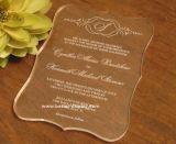 アクリルレーザーの切口の結婚式の招待のカード(BTR-U3001)