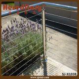 Балюстрада кабеля напольной нержавеющей стали модульная для балкона (SJ-X1038)