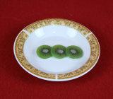 Vendita calda intorno agli articoli per la tavola di ceramica di Decaled dell'oro