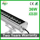 Projeto Outdoor 9W / 12W / 15W / 18W / 24W / 36W LED AC85-265V Wall Washer Luz