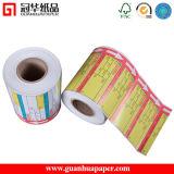 Etiqueta de código de barras autoadesiva impressa térmica de Gsg