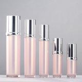 Bouteille crème de empaquetage cosmétique acrylique en plastique de jet de lotion de qualité argentée de luxe d'Elegent