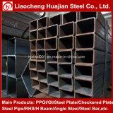 Negro soldado alrededor del tubo de acero cuadrado y rectangular en diversas tallas
