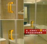 Стеклянная ручка двери, ручка двери ванной комнаты, ручка двери офиса, Al6007