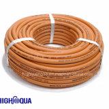 Tuyaux d'air en caoutchouc de surface lisse de tuyau flexible de tresse de fibre