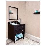 Module de salle de bains en bois solide de qualité avec le Module de miroir