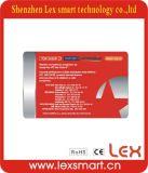 Os melhores cartões pagados antecipadamente 1k do plástico do presente do comprovante do costume F08 13.56MHz