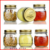 vaso di vetro della conserva intagliato 1000ml di 300ml 500ml per miele, bottiglie dell'alimento
