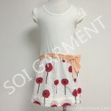 熱いSalt TcおよびRayon Print Flower Baye Dress (KDR-11)
