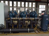 Unidade de condensação do compressor refrigerado a ar para a congelação rápida