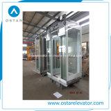 Cabina barata del elevador del precio con la pared de la cabina de la elevación de la aguafuerte (OS41)