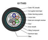 Cavo ottico sepolto diretto GYTA53 dell'armatura di memoria della fabbrica 48