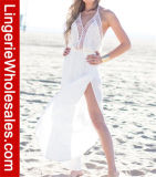 Vestito bianco dalla Long Beach di occultamento del costume da bagno dell'alto stilista