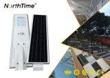Luzes de rua solares automáticas do diodo emissor de luz com o telefone APP do sensor de movimento