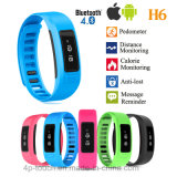 Bracelet Bluetooth4.0 intelligent compatible avec l'androïde et l'iPhone (H6)