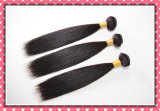 "8A Remy brasileiro Virgin Hair Extension Straight Weaving 16 "" 100g Black Color"