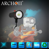 Archon W40vrのダイビングのビデオ軽い最大2600の内腔潜水ライト