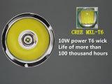 Leistungs-Taschenlampe der LED-taktische Taschenlampen-T6 (T6-C8)