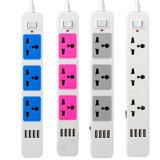 Contactdoos van de Schakelaar van de uitbreiding de Elektro met USB, de Elektrische Stop van 4 Havens USB, de Contactdoos van de Schakelaar