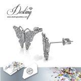 Het Kristal van de Juwelen van het lot van de Oorringen van de Vlinder van de Nagel Swarovski