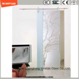 gravura em àgua forte ácida da impressão digital do Silkscreen Print/No de 4-19mm/geou o plano da segurança/dobrou Tempered/vidro temperado para a porta/porta do indicador/chuveiro no hotel e na HOME