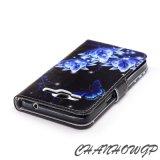 Caisse en cuir de pochette pour la galaxie S3 S4 S5 S6 S7 de Samsung