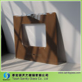 6mm Highquality Brown Printing Tempered Float Decorative Glass Panel para Kitchen Hood