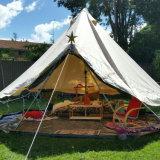 防水綿織物のキャンバスの二重折る折り畳み寝台のYurt屋外のキャンプのGlampingのテント