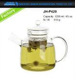 Caldaia di vetro della teiera del vaso dell'articolo da cucina senza piombo con il filtro di vetro