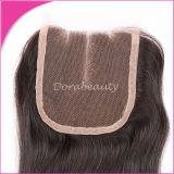 Capelli umani del Virgin dei capelli della chiusura del tessuto brasiliano dei capelli