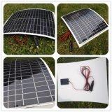 módulo Bendable plegable elástico suavemente flexible del picovoltio del panel solar de 50W ETFE Sunpower