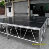 Fase di alluminio portatile mobile del podio del fascio della fase del Mobile 1.22X1.22m di ballo dell'Africa LED grande grande