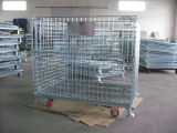 ISO9001 Stackable e Foldable Storage Wire Container