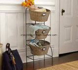 3 Tiers Vegetable Fruit Chrome Rack de armazenamento de metal