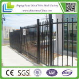 Powder noir Coated Ornamental Iron Picket Fence pour l'Amérique