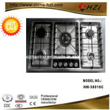 S. negro S Panel 5 Burner Built en Gas Stove