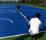 Corte al aire libre azul de la PU del silicio para el baloncesto/el tenis/Vollyball/el bádminton