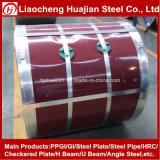 Bobina de aço Prepainting usada para a folha de alumínio da telhadura