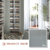 Azulejo de suelo gris suave de cerámica rústico de la sala de estar 600*600